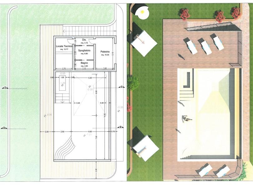 Studio longetti progetto piscina privata con sfiorno - Progetto villa con piscina ...