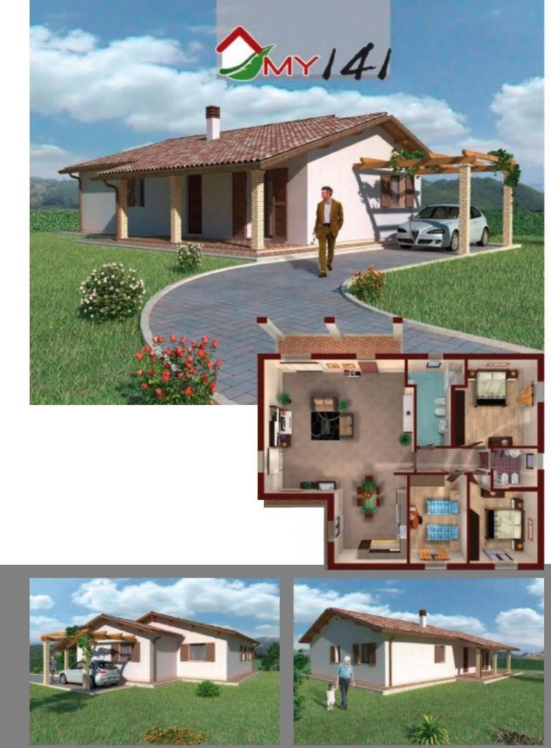 Studio longetti villetta indipendente in campagna di for Progetto giardino villetta